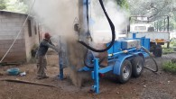 Lone Star LS400T+ shallow water well drill in El Salvador