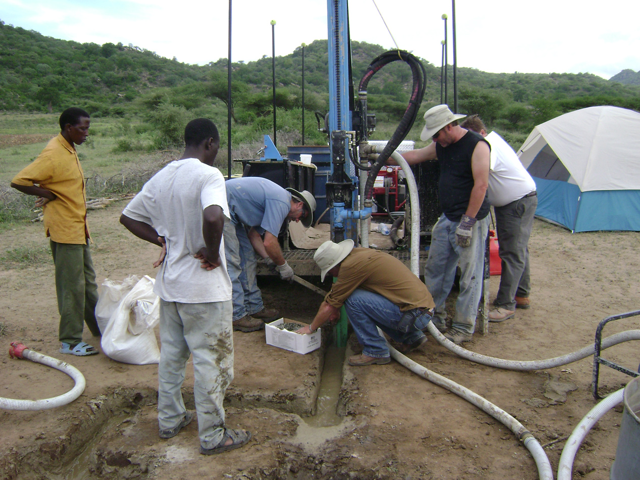 Lone Star Drilling in Remote Location For Groundwater
